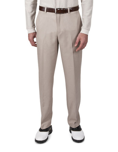 Haggar Cool 18 Straight-Fit Pants-BEIGE-32X32