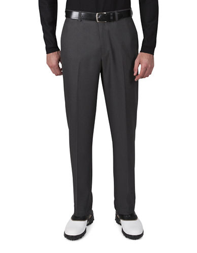Haggar Cool 18 Straight-Fit Pants-GREY-40X30