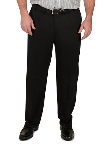 Haggar Big and Tall Work To Weekend Khaki Classic Fit-BLACK-46X30
