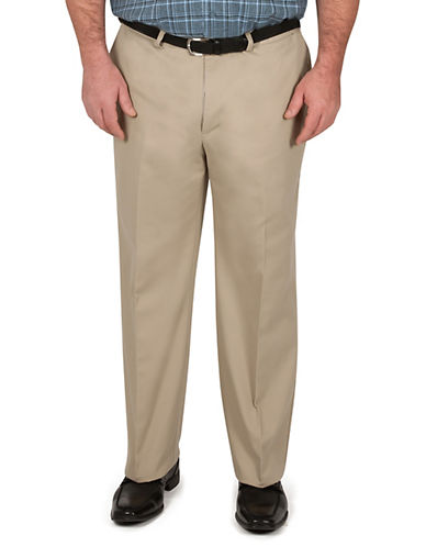 Haggar Big and Tall Work To Weekend Khaki Classic Fit-KHAKI-48X30