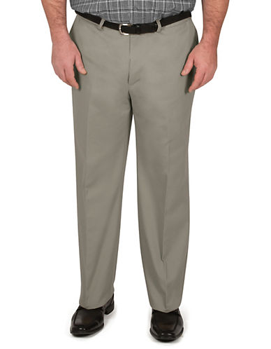 Haggar Big and Tall Work To Weekend Khaki Classic Fit-OLIVE-46X32