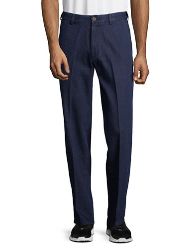 Haggar Classic Denim Pants-BLUE-34X32