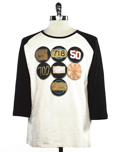 Hockey Hall Of Fame T Shirt   Vintage Pucks Print-WHITE-Large