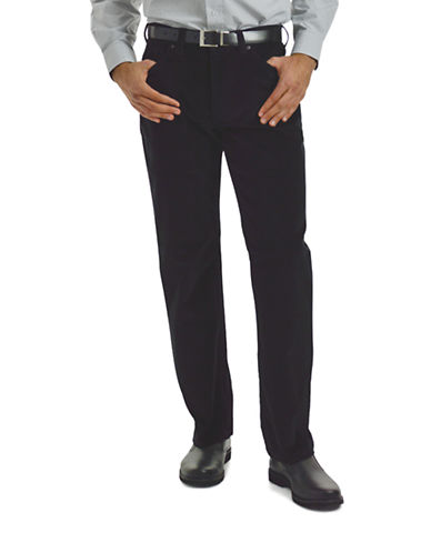 Haggar Wale Stretch Corduroy Pants-BLACK-38X30 87844097_BLACK_38X30
