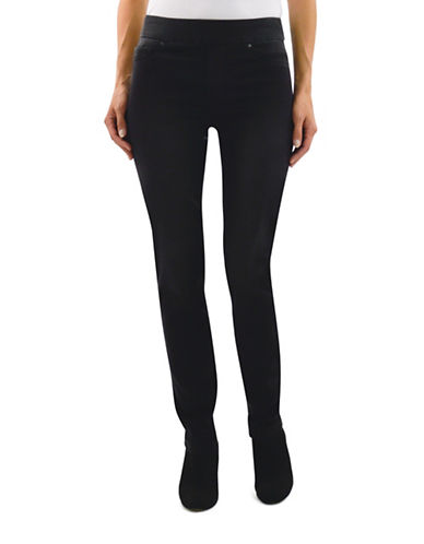 Haggar Pull-On Dream Jeans-BLACK-8