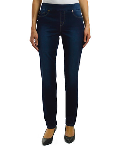 Haggar Pull-On Dream Jeans-NAVY-18