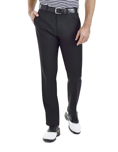 Haggar Straight-Leg Performance Pants-BLACK-34X30 88426287_BLACK_34X30