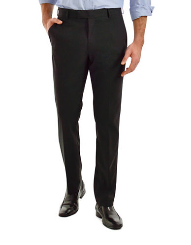 Kenneth Cole Reaction Slim-Fit Dress Pants-BLACK-36X32