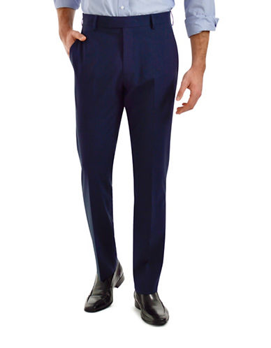 Kenneth Cole Reaction Slim-Fit Dress Pants-NAVY-34X30