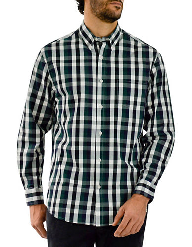 Haggar Heritage Flannel Check Shirt-GREEN-Medium