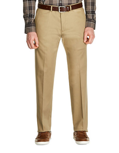 Haggar Premium No Iron Straight Fit Khaki Pants-BRIGHT KHAKI-40X30