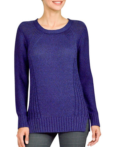 Haggar Long Sleeve Knit Sweater-BLUE-Large 88764851_BLUE_Large