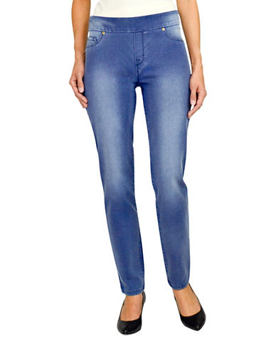 Haggar Dream Pull-On Jeans-BLUE-16