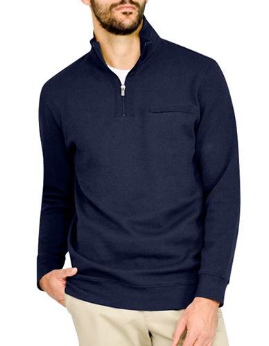 Haggar Ribbed Knit Pullover-NAVY-X-Large 88843309_NAVY_X-Large