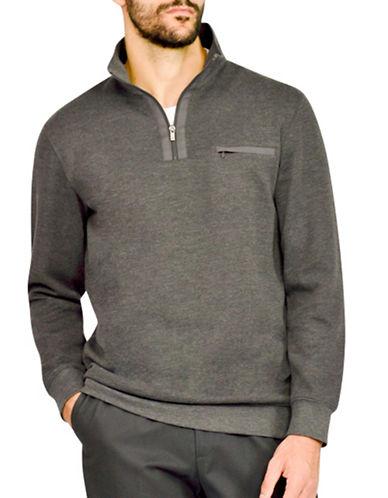 Haggar Ribbed Knit Pullover-GREY-Large 88843313_GREY_Large