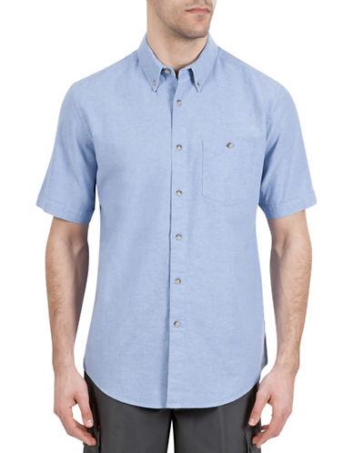 Haggar Regular-Fit Short Sleeve Shirt-BLUE-X-Large