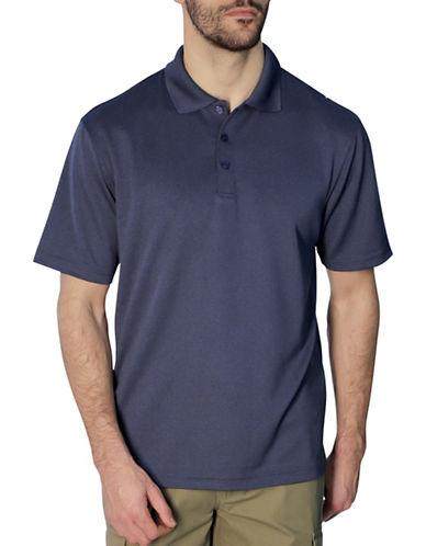 Haggar Short Sleeve Thin Stripe Polo Shirt-NAVY-XX-Large