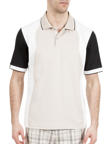 Haggar C18 Colourblock Pique Polo-GREY-Small