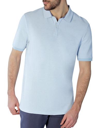 Haggar Heritage Short Sleeve Birdseye Polo-AQUA-Medium