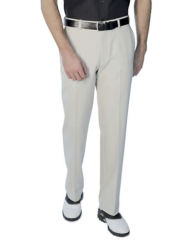 Haggar C18 Pro Straight Fit Pants-GREY-32X30 89077568_GREY_32X30