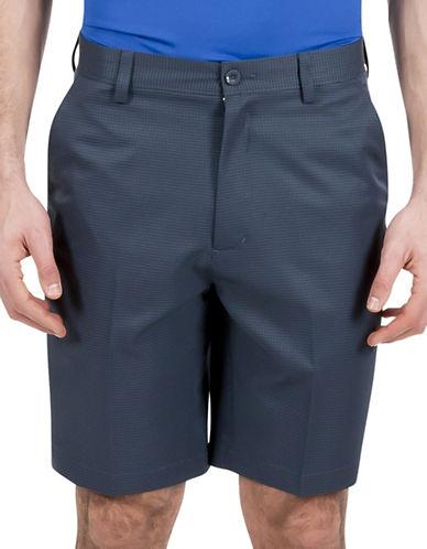 Haggar C18 Gingham Shorts-BLUE-34