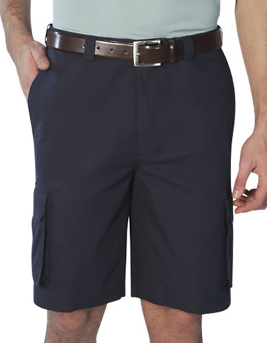 Haggar Expandable Cargo Shorts-BLUE-32
