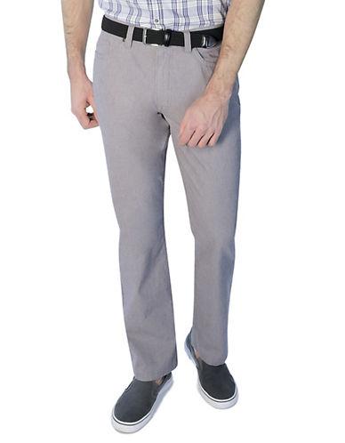 Haggar Heritage Two-Tone Twill Pants-GREY-36X32