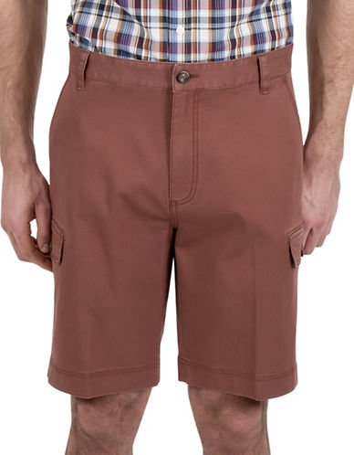 Haggar Heritage Twill Cargo Shorts-RED-36