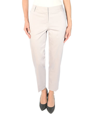 Haggar Stretch Sateen Crop Pants-GREY-16