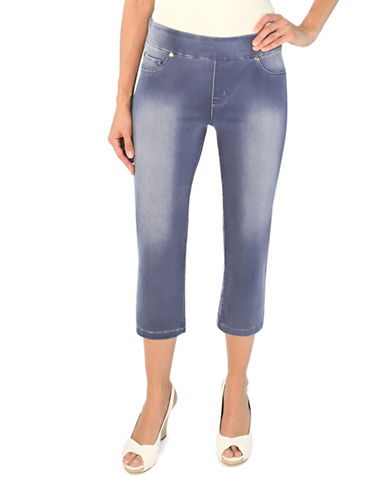 Haggar Two-Way Stretch Denim Capris-BLUE-14