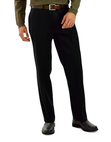 Haggar Big and Tall Straight-Fit Dress Pants-BLACK-48X30