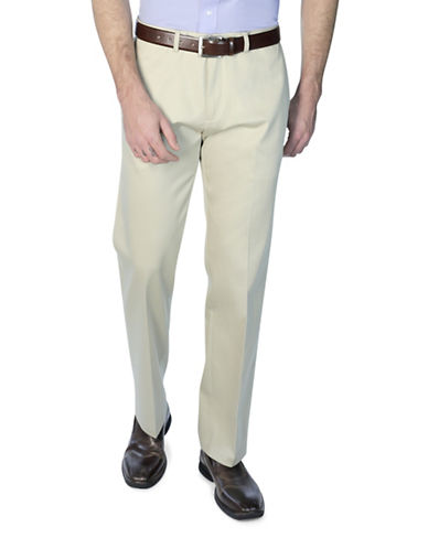 Haggar Big and Tall Straight-Fit Dress Pants-BEIGE-48X32
