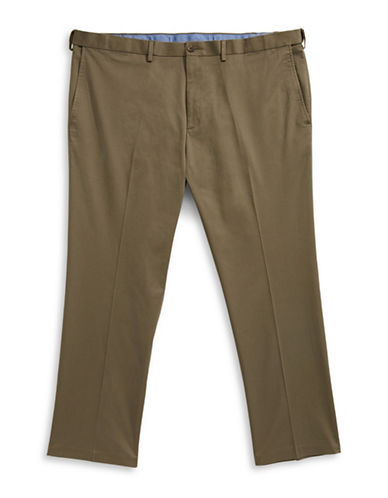 Haggar Big and Tall Straight-Fit Dress Pants-BROWN-48X32