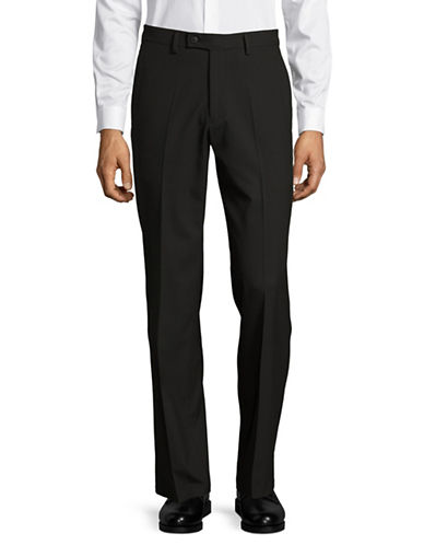 Haggar Premium Performance Straight Fit Dress Pants-BLACK-34X32