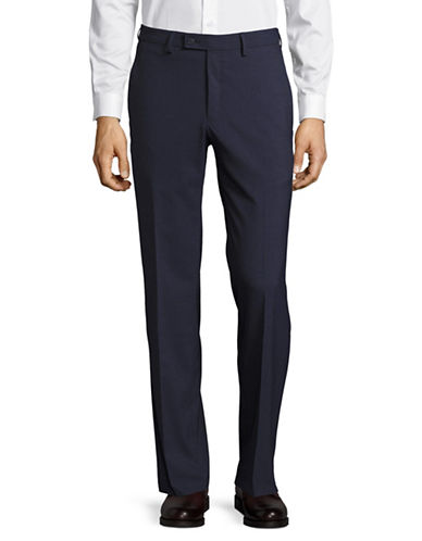 Haggar Premium Performance Straight Fit Dress Pants-DARK BLUE-34X30