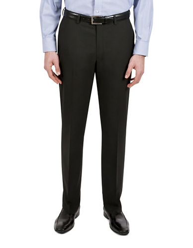 Haggar Subtle Gingham Dress Pants-BLACK-36X30