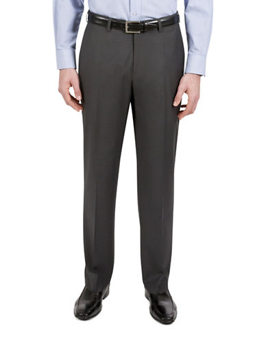 Haggar Subtle Plaid Dress Pants-GREY-36X30