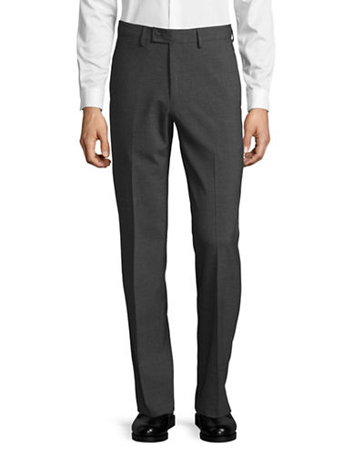 Haggar Premium Performance Straight Fit Dress Pants-GREY-32X32