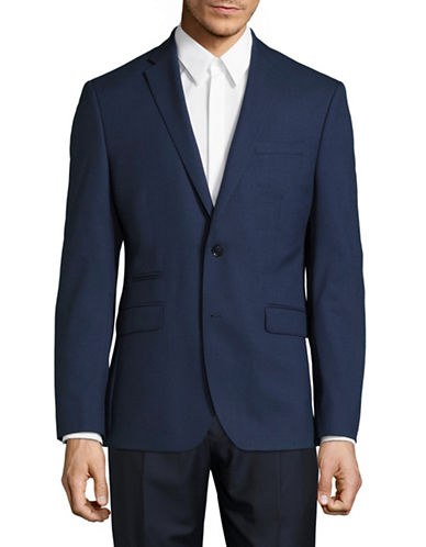 Kenneth Cole Reaction Heather Suit Jacket-BLUE-40 Tall