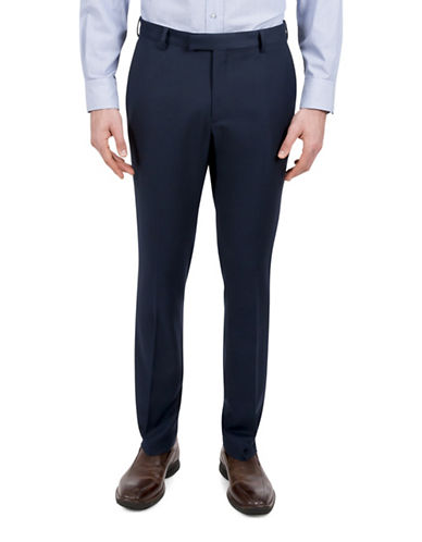 Kenneth Cole Reaction Birdseye Suit Separate Pant-BLUE-40X32