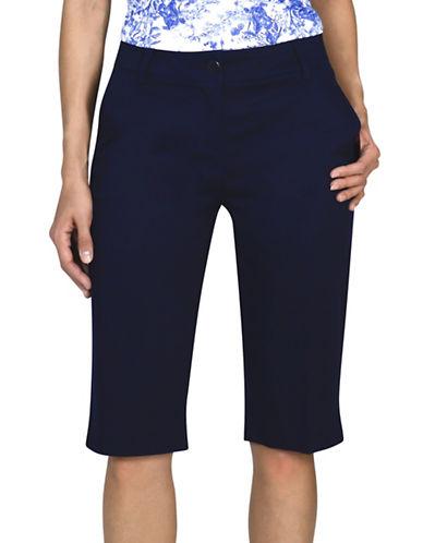 Haggar Refined Bermuda Shorts-BLUE-10