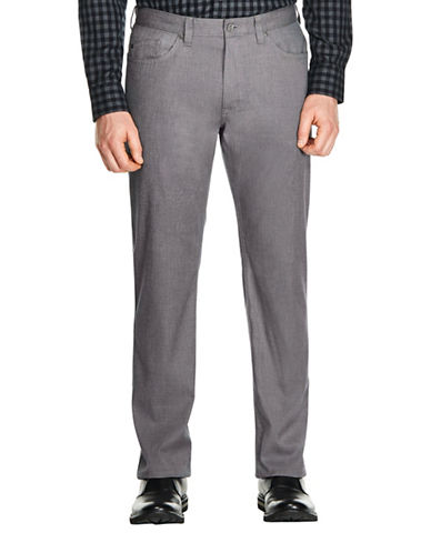 Haggar Heritage Five-Pocket Straight-Fit Cotton Dress Pants-GREY-32X30