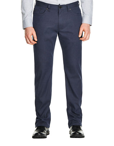 Haggar Heritage Five-Pocket Straight-Fit Cotton Dress Pants-BLUE-34X32