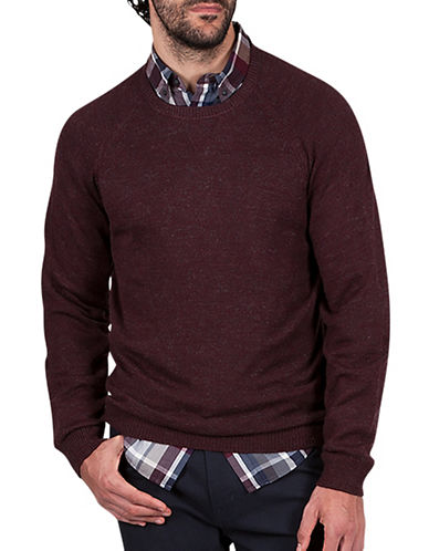 Haggar Heritage Raglan Sleeve Sweater-BURGUNDY-Small