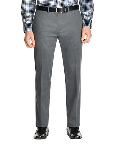 Haggar Premium No Iron Straight Pants-CHARCOAL-36X32