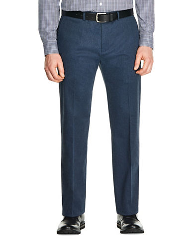 Haggar Premium No Iron Straight Pants-NAVY HEATHER-32X30