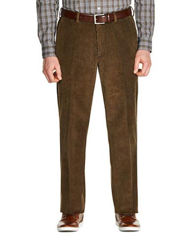 Haggar 8 Wale Classic Cotton Corduroy Pants-KHAKI-32X30