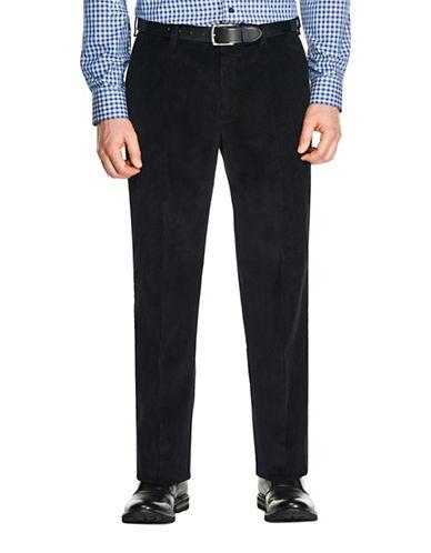 Haggar 8 Wale Classic Cotton Corduroy Pants-NAVY-36X34