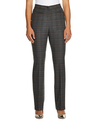 Haggar Plaid Dress Pants-BEIGE-12