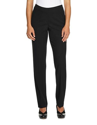 Haggar Petite Tech Crepe Pants-BLACK-Petite 12